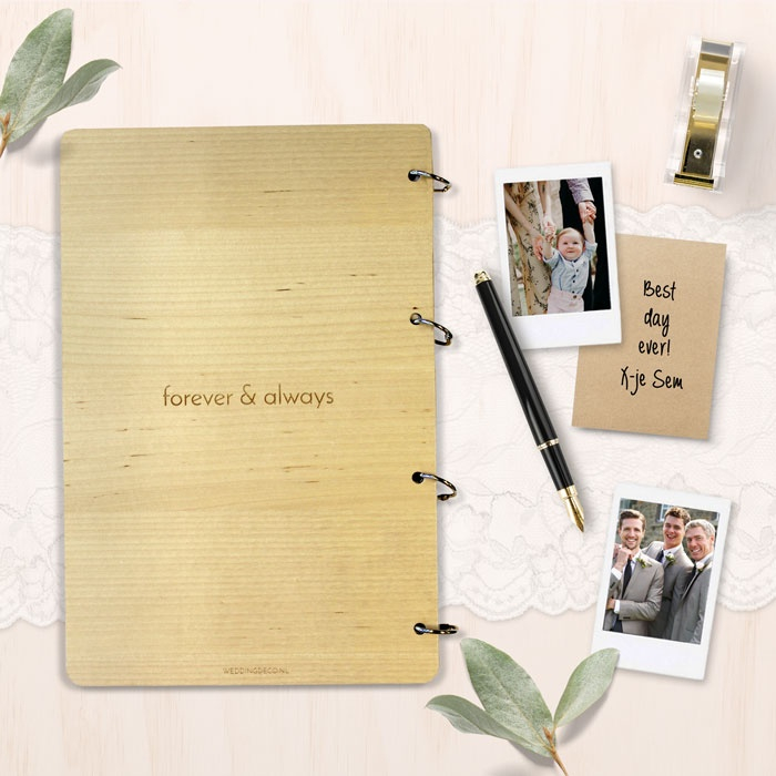 Wonderlijk Houten gastenboek met takjes en namen | Weddingdeco.nl PU-49