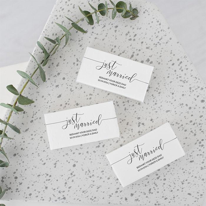 Verbazingwekkend Zeep bedankje bruiloft just married | Weddingdeco.nl UO-77