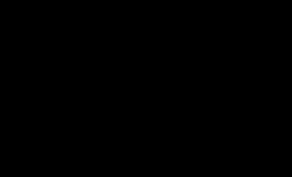 Honingpotje trouwbedankje typografie zwart wit