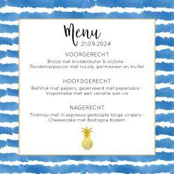 Indigo Summer menukaart vierkant enkel kader