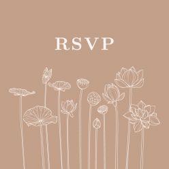 Lotus RSVP kaart vierkant enkel