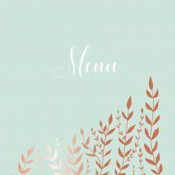 Copper garden menukaart vierkant enkel