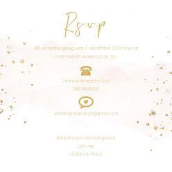 Elegance Breeze RSVP kaart vierkant enkel peach