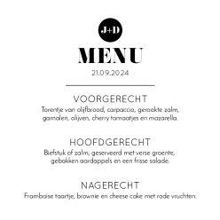Modern Paper menukaart vierkant enkel