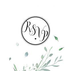 Modern elegance RSVP kaart vierkant enkel