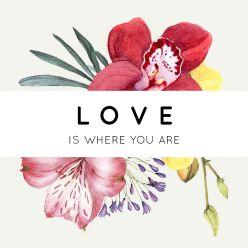 Wild flowers label vierkant enkel qoute