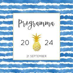 Indigo Summer programma kaart vierkant enkel kader