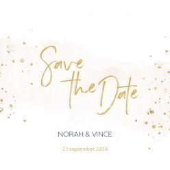 Elegance breeze save the date kaart vierkant enkel