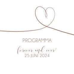 Forever Together programma kaart vierkant enkel