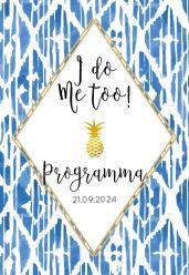 Indigo Summer programma kaart staand enkel ruit