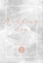 New beginnings programma kaart staand wedding day