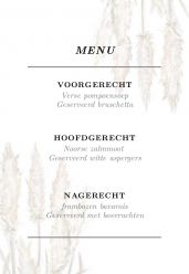 Pampas gras menukaart staand enkel