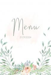 Botanical romance menukaart staand enkel