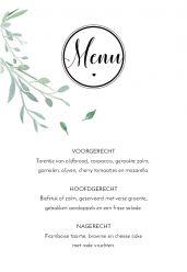 Modern elegance menukaart staand enkel