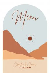 Mountain Love menukaart staand enkel