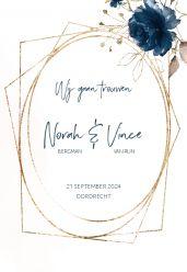Elegance breeze trouwkaart staand enkel