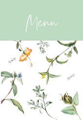 Love Blooms menukaart staand enkel groen