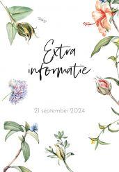Love Blooms inlegkaart staand enkel extra informatie 10x15