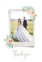 Botanical romance bedankkaart staand enkel met foto
