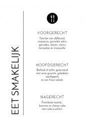 Modern Paper menukaart staand enkel
