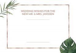 Beautiful Botanics wedding wishes liggend enkel
