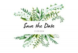 Touch of nature save the date kaart liggend enkel