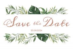 Beautiful Botanics save the date kaart liggend enkel