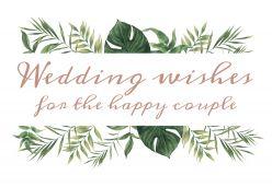 Beautiful Botanics wedding wishes kaart sierlijk