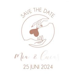 Folie save the date kaart forever together vierkant