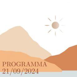 Folie programma kaart mountain love vierkant enkel
