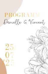Folie programma kaart lily romance staand enkel