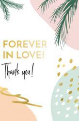 Folie bedankkaart paradise love staand enkel