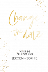 Folie change the date kaart modern staand enkel 10x15