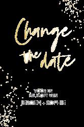 Folie change the date kaart modern staand enkel 14x21