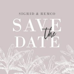Palm springs save the date vierkant dubbel