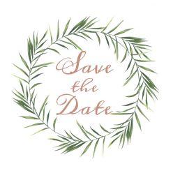 Beautiful Botanics save the date kaart vierkant dubbel