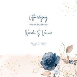 Elegance breeze trouwkaart vierkant dubbel