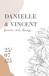 Lily romance trouwkaart kaart staand dubbel