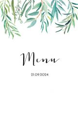 Lovely eucalyptus menukaart staand dubbel