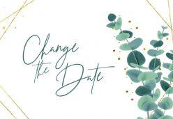 Golden green change the date kaart liggend enkel