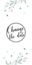 Modern elegance change the date kaart panorma staand enkel