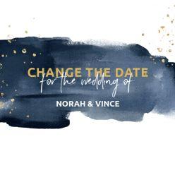 Elegance breeze change the date kaart vierkant enkel