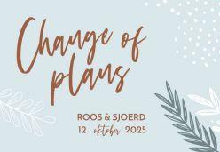 Arts & romance change the date kaart liggend enkel