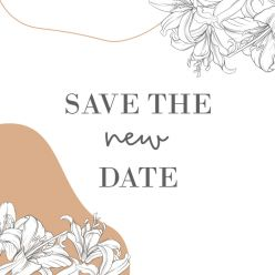 Lily romance change the date kaart vierkant enkel