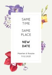 Wild flowers change the date kaart staand enkel 10x15