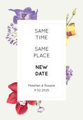 Wild flowers change the date kaart staand enkel 14x21