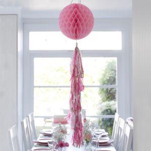 Honeycomb met tassels roze Talking Tables