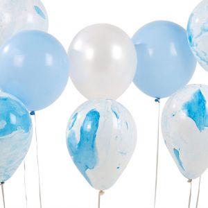 We Heart Blue marble ballonnen (12st) Talking Tables