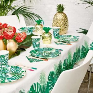 Bekertjes palmbladeren Tropical Fiesta (8st) Talking Tables