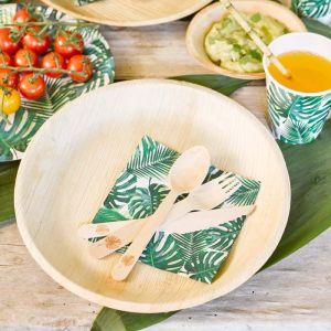 Tropical Fiesta bordjes van palmblad (6st) Talking Tables